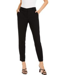 bar iii classic straight-leg trousers, created for macy's