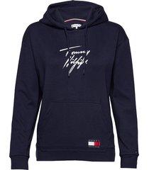 hoodie lwk top blauw tommy hilfiger