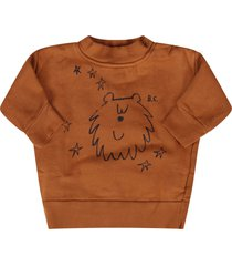 bobo choses camel babykids sweatshirt with blue bear