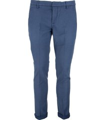 dondup gaubert - slim-fit cotton and lyocell trousers