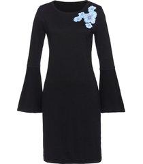 abito in maglia con volant (nero) - bpc selection