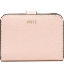 furla medium babylon textured wallet - pink