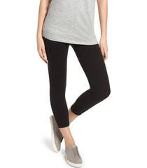 women's nordstrom high waist crop leggings, size xx-large - black