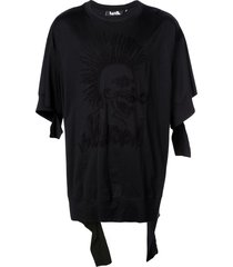 haculla hac-head destroyed t-shirt - black