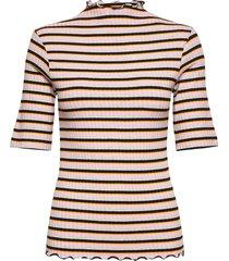 5x5 dream stripe trutte short t-shirts & tops short-sleeved multi/mönstrad mads nørgaard