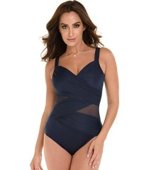network madero firm control one-piece swimsuit