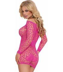 neon roze jurkje sweetheart