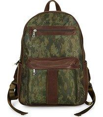 alban printed backpack