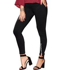 envío gratis pantalon klum negro  para mujer croydon