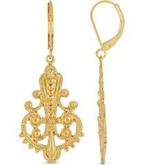 2028 filigree euro wire drop earring