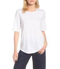 women's eileen fisher crewneck tee, size medium - white