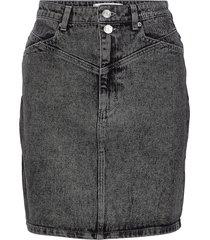 aleahgz mini skirt so21 kort kjol grå gestuz