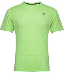 impact run ss t-shirts short-sleeved grön new balance