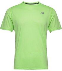 impact run ss t-shirts short-sleeved grön new balance