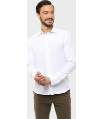 camisa casual texturada blanco arrow
