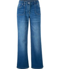 jeans elasticizzati con cinta comoda e gamba larga (blu) - bpc bonprix collection