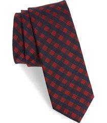 men's ted baker london check silk & wool tie