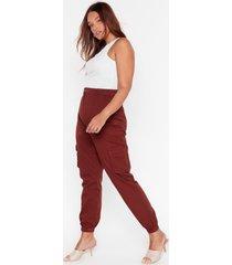 womens cargo wrong plus utility pants - rust