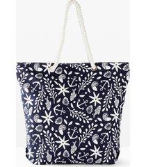 borsa shopper in tessuto (blu) - bpc bonprix collection
