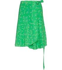 inger johanne knälång kjol grön fall winter spring summer