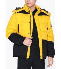 lee jeans mid puffer jacket lemon zest jackor lemon