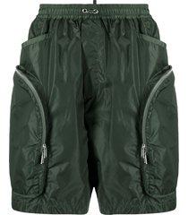 dsquared2 multi-pocket bermuda shorts - green