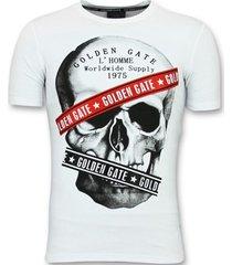 t-shirt korte mouw enos te t-shirts slim fit - shirt met glitter