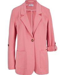 blazer lungo in felpa maite kelly (rosa) - bpc bonprix collection
