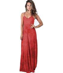vestido largo berlin rojo len ly maria paskaro
