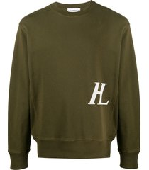 helmut lang masc crew logo sweatshirt - green