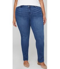 new straight leg jean with secret slimmer
