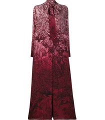 f.r.s for restless sleepers flared printed long dress