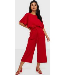 ax paris short sleeve jumpsuit jumpsuits