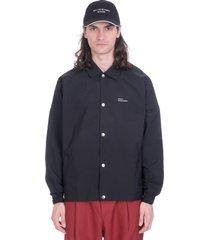 drôle de monsieur casual jacket in black polyester
