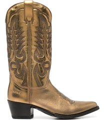 paul warmer metallic-tone slip-on boots - gold