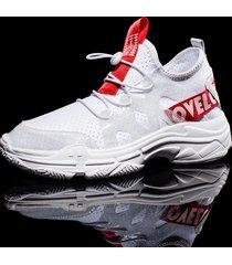 sneaker da corsa leggera da uomo in mesh traspirante