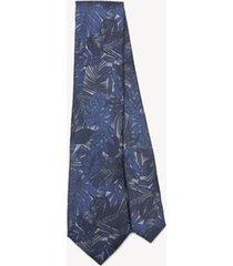 tommy hilfiger men's silk slim wid print tie indigo blue -