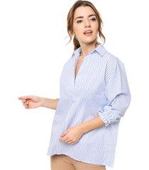 blusa azul donadonna ava