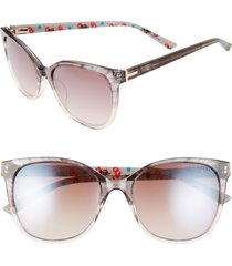 ted baker london 55mm sunglasses in grey at nordstrom