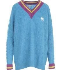etro oversized v neck l/s sweater