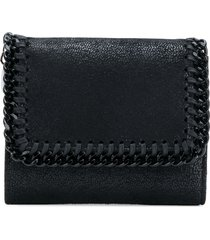 stella mccartney mini falabella trifold purse - black