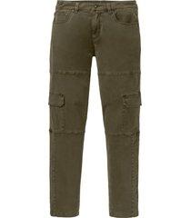 pantaloni cargo elasticizzati slim fit straight (verde) - rainbow
