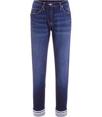 jeans elasticizzati con risvolto straight (nero) - bpc bonprix collection