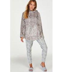 hunkemöller petite pyjamasbyxor i jersey grå