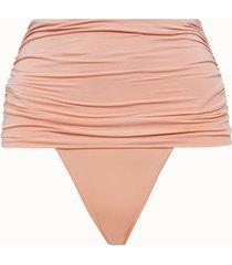 stella mc cartney beachwear slip vita alta in lycra rosa