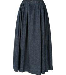 marni denim midi skirt - blue