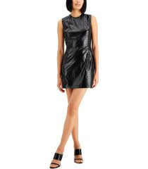 french connection croc-embossed mini dress