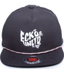 boné ecko aba reta snapback estruturado preto
