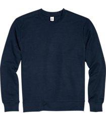 alternative apparel navy modern fit long sleeve crew neck sweatshirt