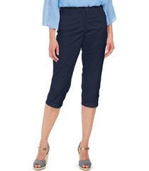 karen scott button-hem comfort-waist capri pants, created for macy's